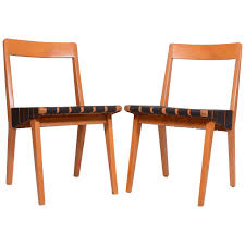 pair of jens risom 666 side chairs for knoll for sale at 1stdibs