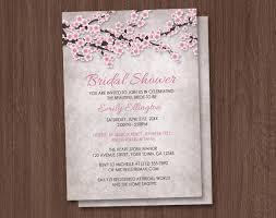 vintage bridal shower invitations rustic cherry blossom bridal shower invitations
