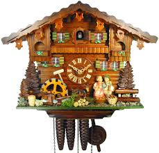 cuckoo clock 1 day movement chalet style 27cm by august schwer