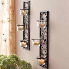Wrought Iron Candle Wall Sconces Better Homes And Gardens Iron Sconces Set Of 2 Walmart Com