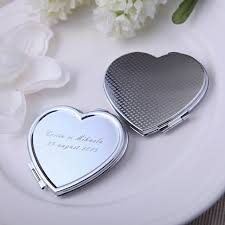 personalized wedding favors 25x heart shaped compact mirror personalized wedding favor bridal