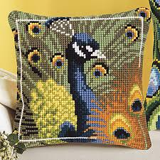Pillow Tops Both Peacock Pillow Tops Cross Stitch Needlepoint Embroidery