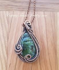 pendant wire necklace images Prehnite wire wrapped cabochon pendant necklace perfectly twisted jpeg