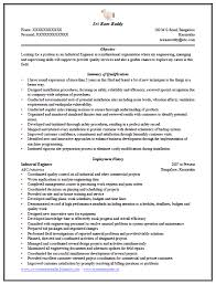 Industrial Engineering Resume Smartness Ideas Engineering Resume Format 9 Over 10000 Cv And