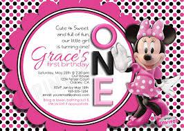 minnie mouse personalized invitation www