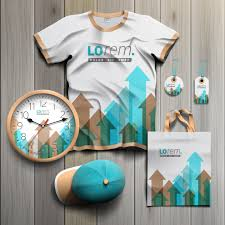 can you drum up business by putting your home inspection logo on white promotional souvenirs design for corporate identity with blue and brown arrows stationery set