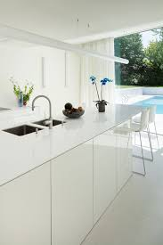 contemporary renovation near brussels belgium white kitchen island