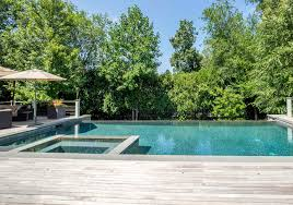 Infinity Pool Backyard by Wood Deck Cable Railing U0026 Infinity Pool U2013 Sean Jancski Landscape