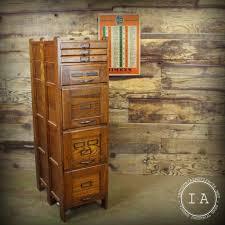 vintage weis 7 drawer wooden file cabinet antique storage