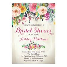 bridal shower invite wording simple floral bridal shower invitations to design bridal shower