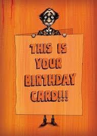 this is the birthday card birthday cards bald greetings