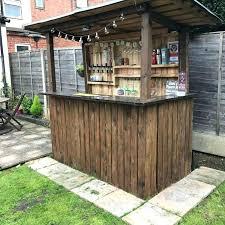 Garden Bar Ideas Garden Bar Made From Pallets Creative And Low Budget Outdoor Bar