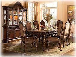 Dark Wood Dining Room Table Amazon Com Dark Brown Rectangular Dining Table By Ashley