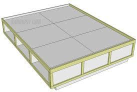 bedroom stunning pdf diy queen size storage bed frame plans