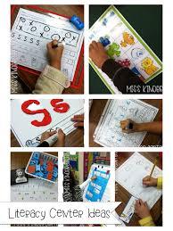 center ideas literacy center ideas miss kindergarten