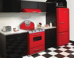 red kitchens kitchen elegant kitchen design with red fitted red refrigerator