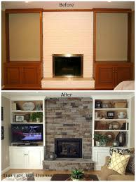 transforming a fireplace and built in bookcases driven by decor