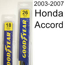 2007 honda accord dimensions amazon com honda accord 2003 2007 wiper blade kit set