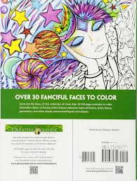 fanciful faces coloring book creative haven miryam adatto