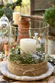 evergreen and candle centrepiece decor pinterest christmas
