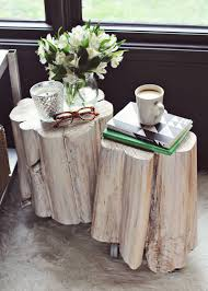 Tree Stump Side Table Diy Tree Stump Side Tables A Beautiful Mess