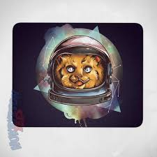 Nerdy Desk Accessories Space Cat Mouse Pad Cool Cat Astronaut Mouse Pad Nerdy