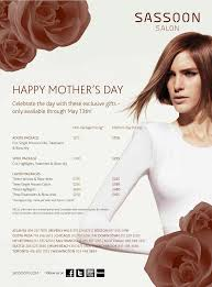 pamper your mom at sassoon salon this mother u0027s day
