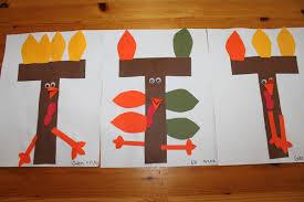 thanksgiving ideas for kindergarten letter t crafts preschool and kindergarten