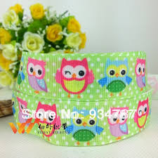 printed ribbon wholesale wholesale ribbon owl ribbon christmas ribbon 50 yards printed