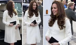 Jojo Meme Bebe - pregnant kate middleton wears cream jojo maman bebe coat to visit