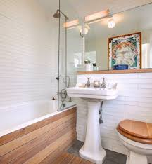 small bathrooms makeover bathroom eclectic with wood paneling