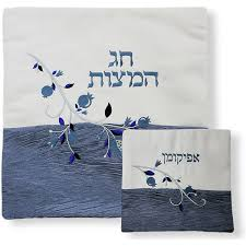 passover matzah cover passover gifts passover blue pomegranate matzah cover set