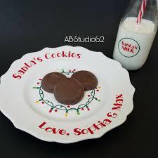 milk and cookies for santa set cookies for santa plate