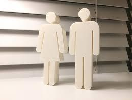 Bathroom Symbols Bathroom Symbols Figurines By Starkdesign Thingiverse