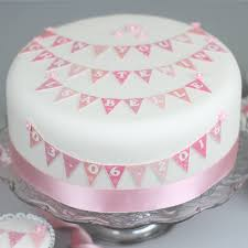 personalised bunting birthday cake decorating kit by clever little