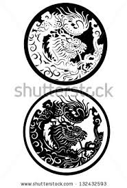 vector design tattoo dragon stock vector 132432593 shutterstock