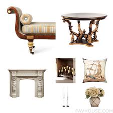 decorating elegant fireplace candelabra with elegant carving in