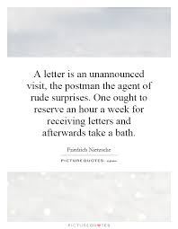 a letter is an unannounced visit the postman the of rude