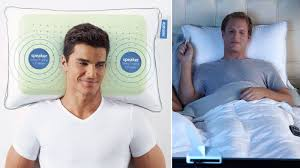 tv bed pillow wireless pillow speakers put a personal home theater in your bed
