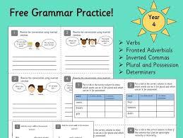 grammar practice year 4 by gsprimaryeducation teaching resources