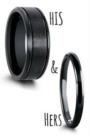 black wedding rings his and hers black matching wedding band set these black ring are crafted out