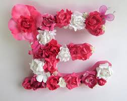 Letter L Home Decor by Custom Name Letter Floral Letter L Flower Name Letter
