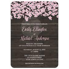 cherry blossom wedding invitations invitations cherry blossom rustic wood