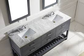 virtu 72 inch caroline estate bathroom vanity grey