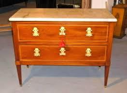 louis xvi period cuban mahogany commode with original marble top