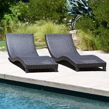 Outdoor Lounge Chair Modern Living Outdoor Chaise Lounge Chairs W Cushions
