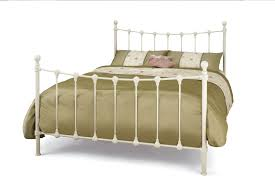 Metal Bed Frame Double 4ft Small Double Ivory Metal Bed Frame