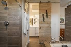 bathrooms white bathroom with white sliding barn door also