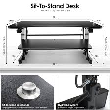 Sit To Stand Desk by Amazon Com Sorbus Standing Desk With Push Button Height