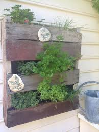 mini pallet herb garden just trim to the size you want hang it
